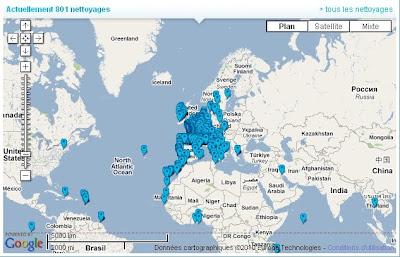 Cartes des initiatives oceanes dans le monde