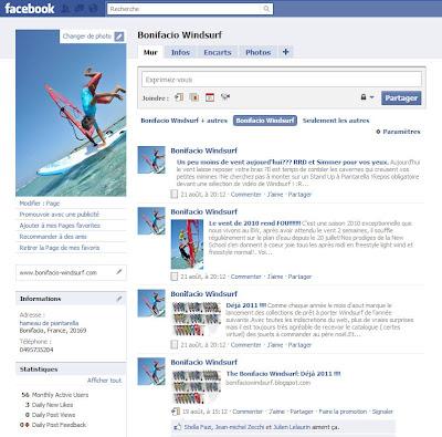bonifacio windsurf sur facebook