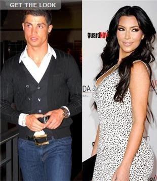 Cristiano Ronaldo and Kim Kardashian
