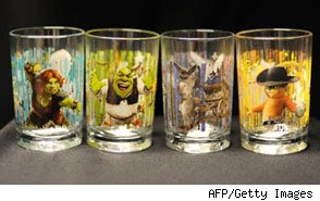 Shrek Glass Recall