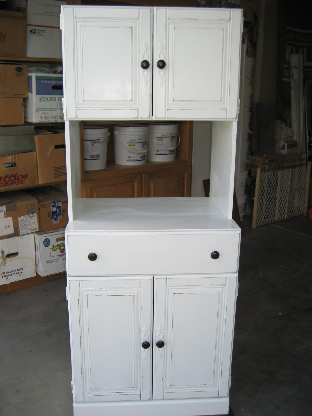 Countertop Microwave Stand : Paint Me Shabby: Microwave Stand Turned Bill and Junk Collector!