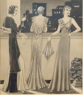 שמלות ערב בשנות ה-30