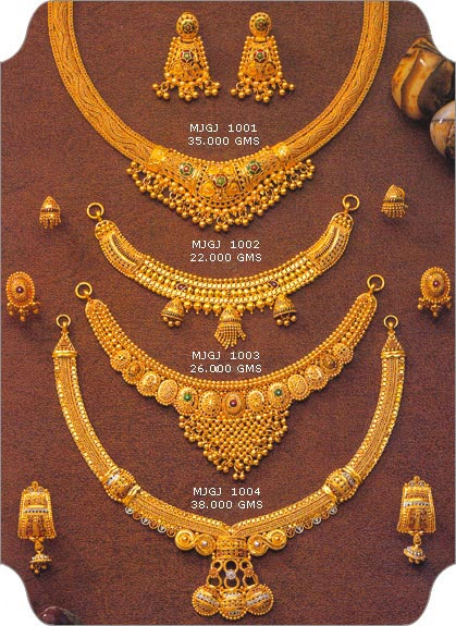 in gold bhima necklace collections jewellery