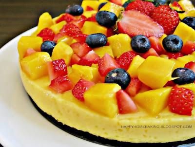Mango Yogurt Pudding Cake Recipe