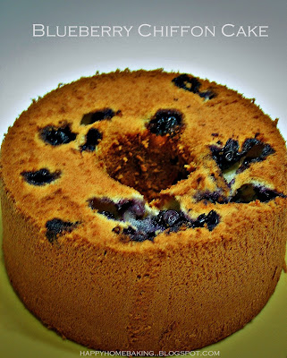 Blueberry Chiffon Cake Recipe