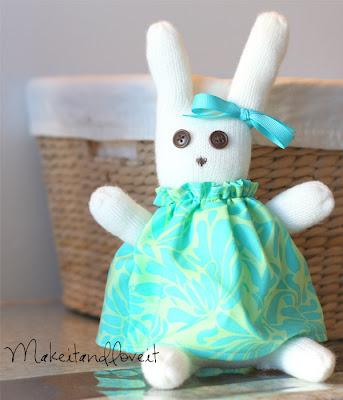 Stuffed Easter Bunny by Ashley Johnston