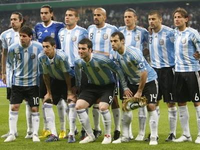 formación de argentina frente a nigeria en sudafrica 2010