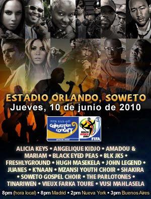 informacion inauguracion sudafrica 2010