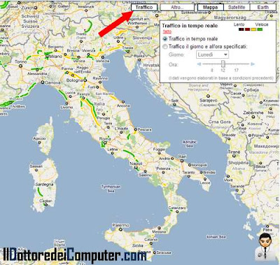 traffico in tempo reale su google maps
