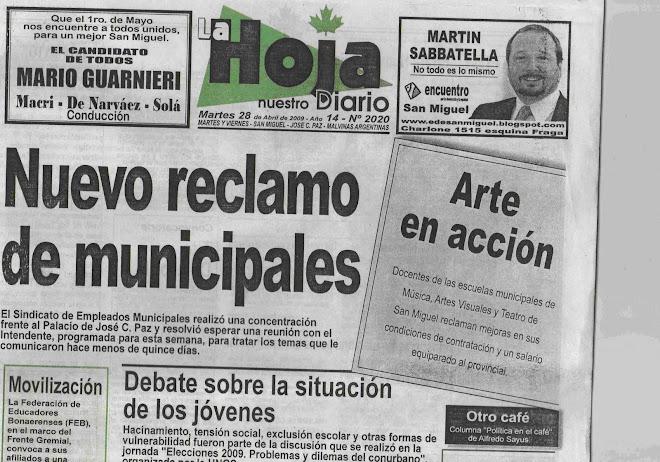 Portada La Hoja, 28/04