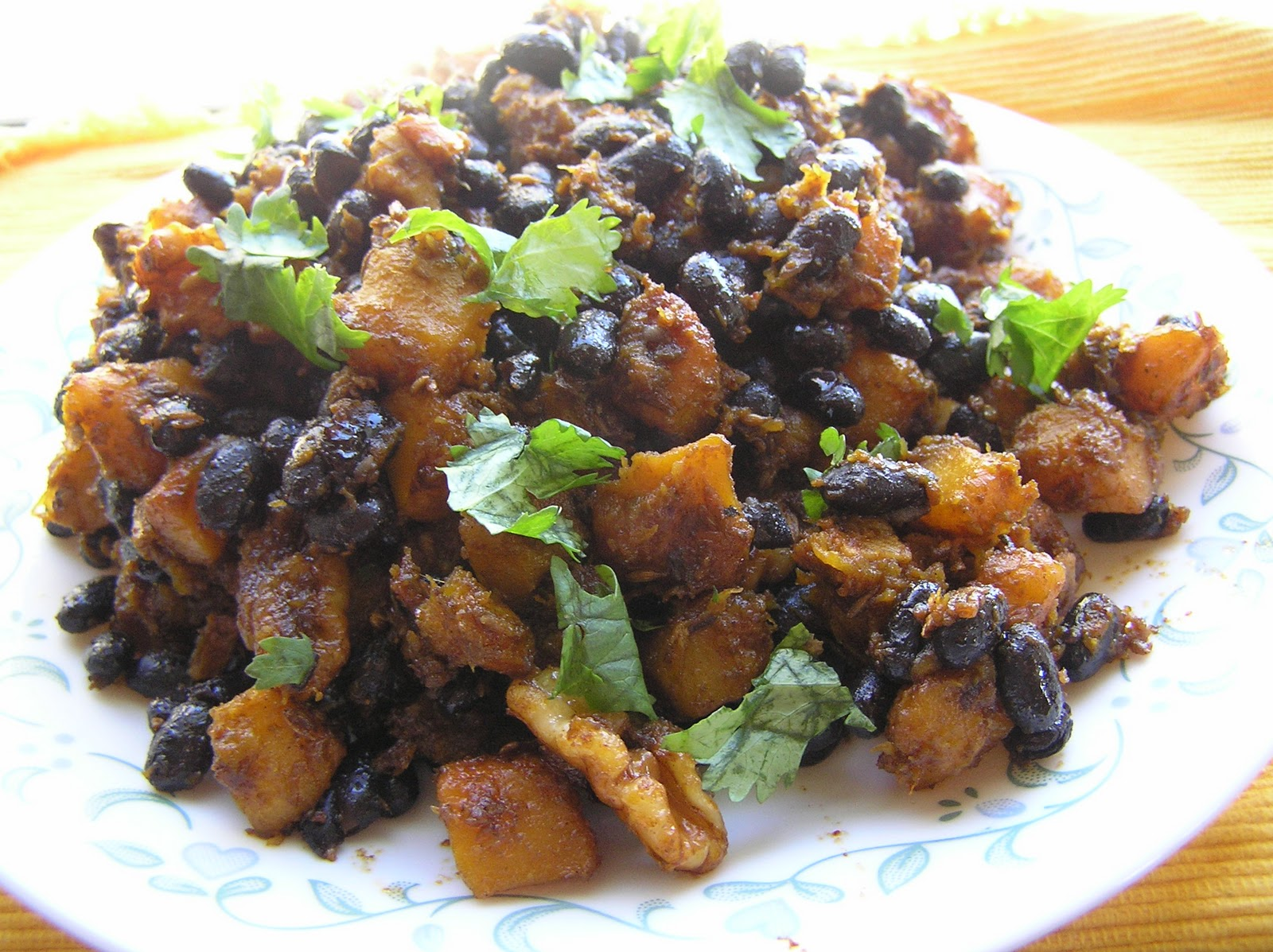 The Melting Pot: Butternut Squash with Black Beans
