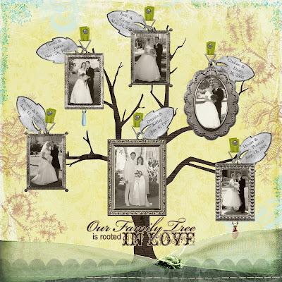 life and art with glamma fabulous my wedding family tree scrapbook