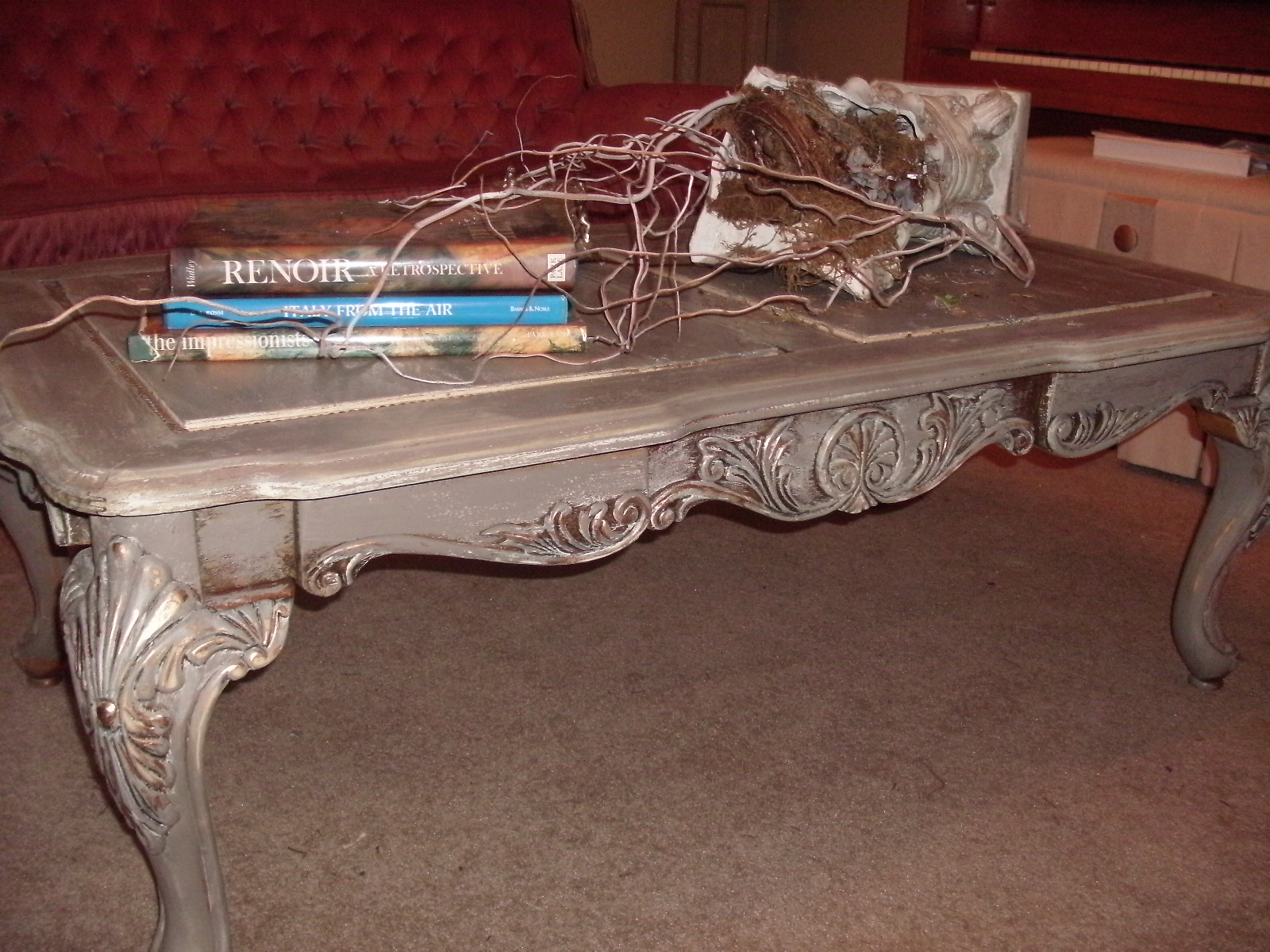 "A Touch of Mink Before & After on my ""RH"" Coffee Table Broken"