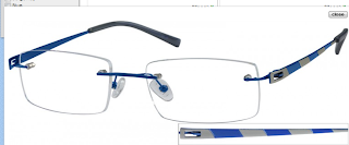 Rimless EyeGlasses Male