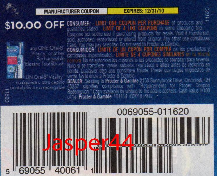 oral b triumph coupons