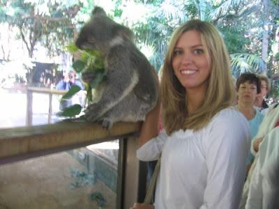 Carrie with koala
