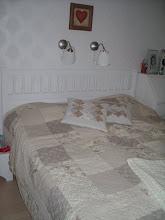 Vårat nyrenoverade sovrum
