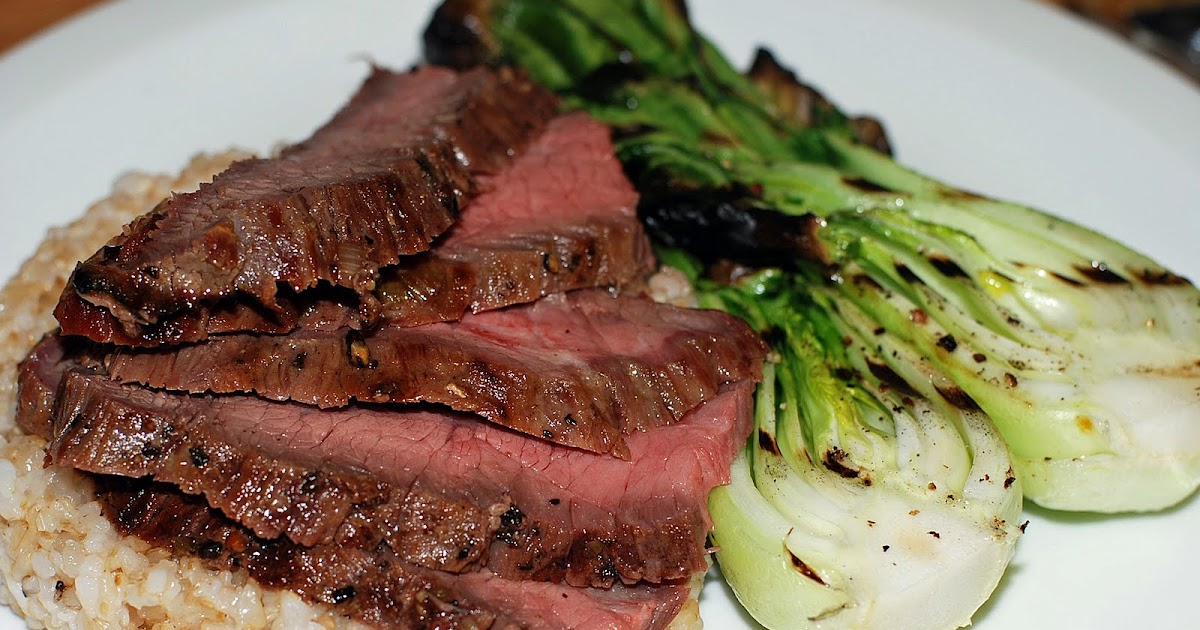 ... Cook: Korean Style Marinated Flank Steak w/Grilled Baby Bok Choy