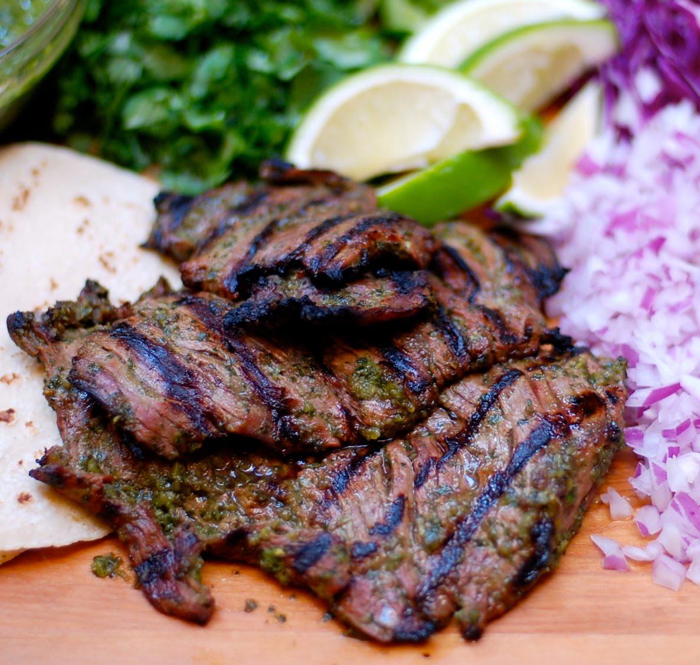 The Enchanted Cook: Chimichurri Carne Asada Tacos