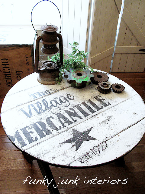 SIGN A TABLE, creating memories you won't soon forget! via Funky Junk Interiors
