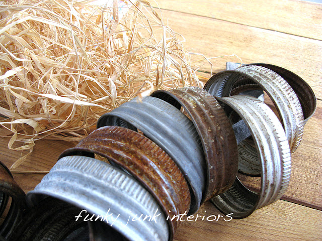 canning jar lids for ornaments and wreath