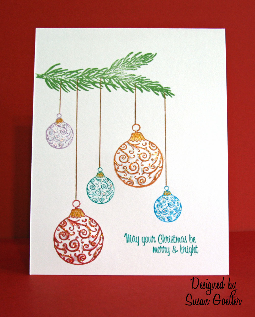 Susan goetter november 2010 for How to draw easy christmas cards