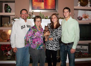 Leigh Setser and Family at thanksgiving dinner