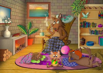ilustración para libro infantil
