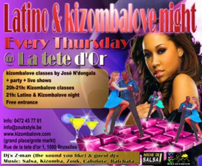 Latino and Kizomba Love Night, Every Thursday with Jose N'dongola - Brussels