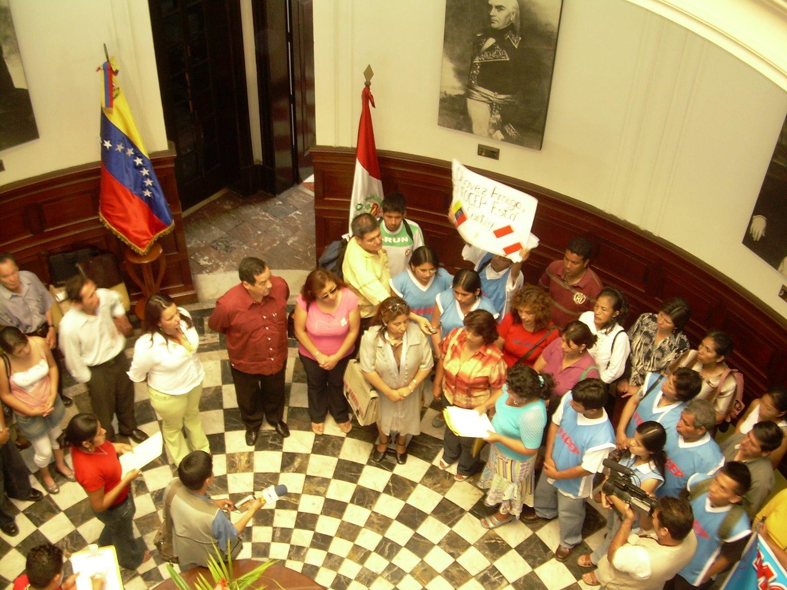 EMBAJADOR DE VENEZUELA REUNIDO CON ORGANIZACIONES SOCIALES Y POPULARES
