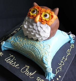 owl cake from Constant Craving