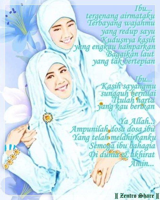 Kartun Cinta Islami Cewek Berjillbab Untuk ibu