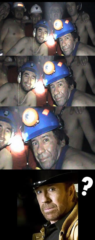 Chuck Norris That's Why The Miners Survived