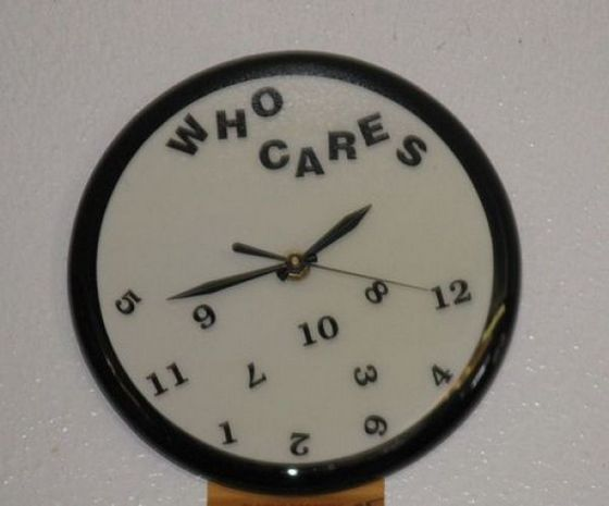 Who Cares - Funny Wall Clock Design