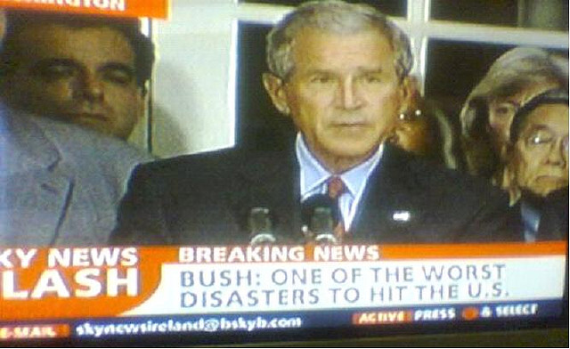 One Of The Worst Disasters To Hit The U.S - Bush
