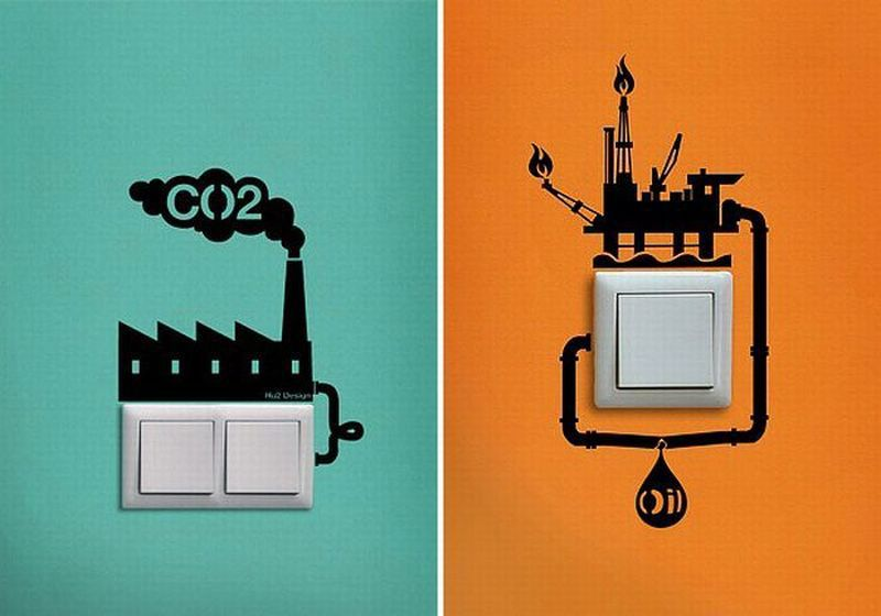 Very Creative Eco-Reminder Stickers by Hu2