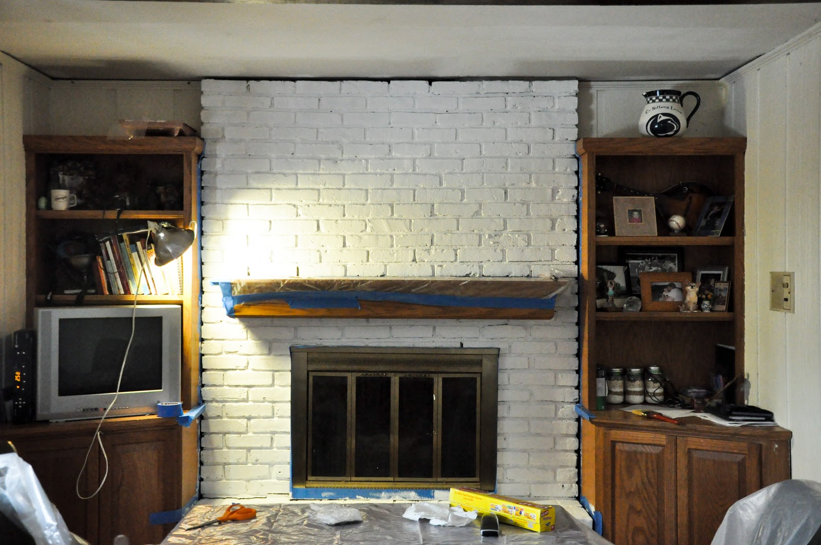 Keana My Adventures In Domestic Destruction How To Paint Your Brick Fireplace And Totally