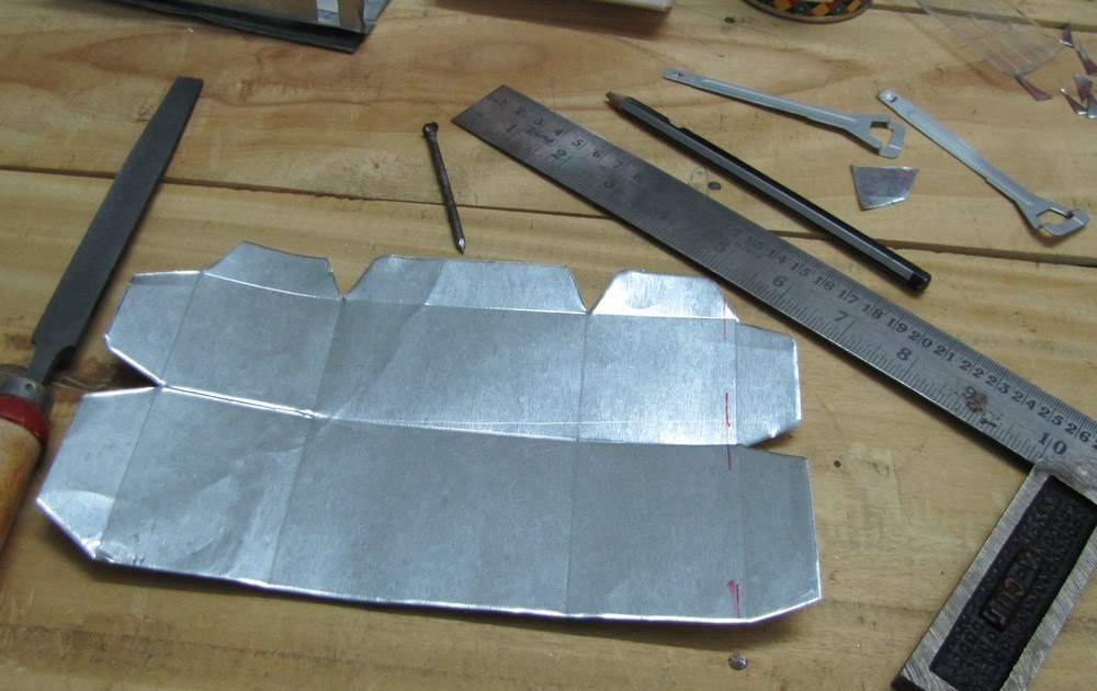 My Do It Yourself Projects Sheet Metal Pen Holder