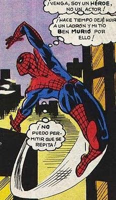Spiderman y sus remordimientos