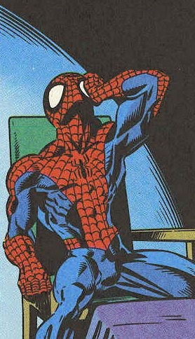 momento de reflesión de Spiderman