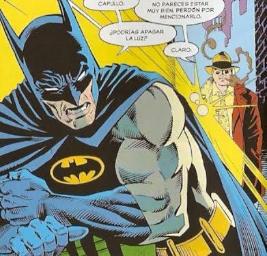 Batman mosqueado con la luz