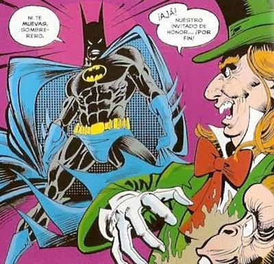 Batman metiendo miedo al Sombrerero