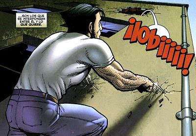 Wolverine mostrando sus garras
