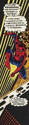 Spiderman preocupado por su trabajo