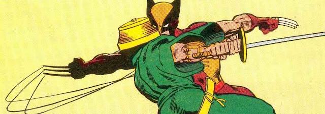 Wolverine defendiendose de una katana