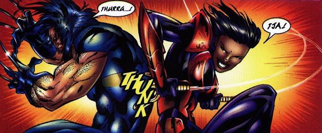Wolverine asaetado por la espalda