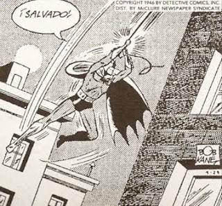 Batman sobrevolando la noche de Gothan