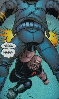 Wolverine recibiendo un golpe bajo