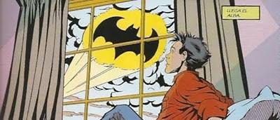La batseñal despertando a Robin