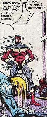 Spiderman muerde el polvo
